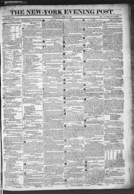 The Evening Post from New York, New York on April 30, 1818 · Page 1