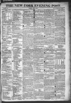 The Evening Post from New York, New York on May 5, 1818 · Page 1