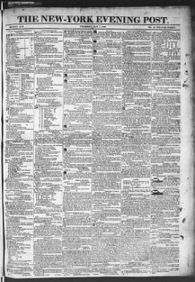 The Evening Post from New York, New York on May 7, 1818 · Page 1