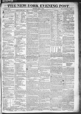 The Evening Post from New York, New York on May 14, 1818 · Page 1
