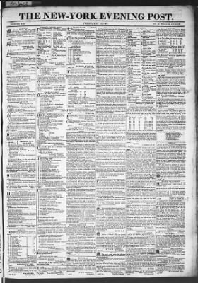The Evening Post from New York, New York on May 15, 1818 · Page 1