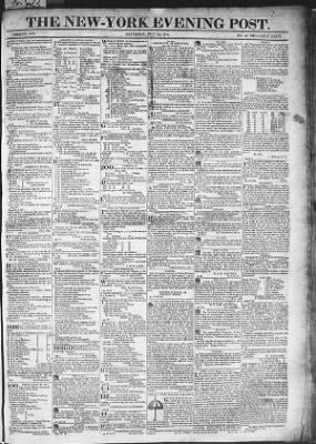 The Evening Post from New York, New York on May 23, 1818 · Page 1