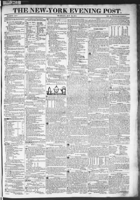 The Evening Post from New York, New York on May 28, 1818 · Page 1