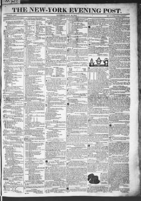 The Evening Post from New York, New York on May 30, 1818 · Page 1