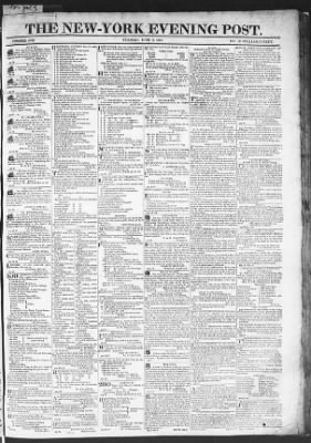 The Evening Post from New York, New York on June 2, 1818 · Page 1