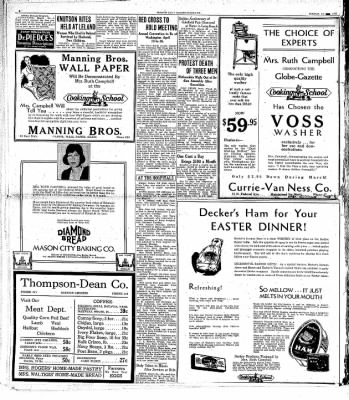 Globe-Gazette from Mason City, Iowa on March 24, 1931 · Page 4