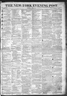The Evening Post from New York, New York on June 8, 1818 · Page 1