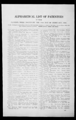 Official Gazette of the United States Patent Office from Washington, District of Columbia on February 19, 1924 · Page 254