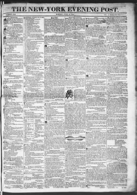 The Evening Post from New York, New York on June 22, 1818 · Page 1