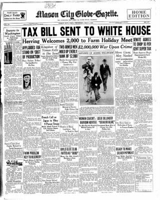 Globe-Gazette from Mason City, Iowa on May 3, 1934 · Page 1
