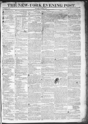 The Evening Post from New York, New York on June 29, 1818 · Page 1