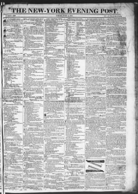 The Evening Post from New York, New York on July 3, 1818 · Page 1