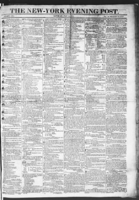 The Evening Post from New York, New York on July 11, 1818 · Page 1