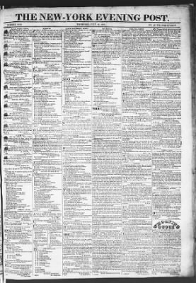 The Evening Post from New York, New York on July 16, 1818 · Page 1