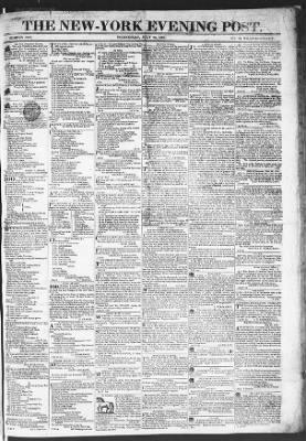The Evening Post from New York, New York on July 22, 1818 · Page 1