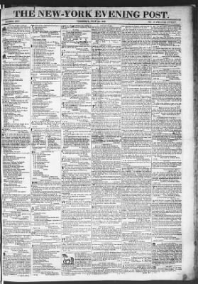 The Evening Post from New York, New York on July 23, 1818 · Page 1