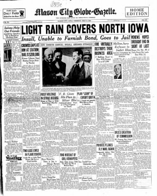The Mason City Globe-Gazette from Mason City, Iowa on May 8, 1934 · Page 1