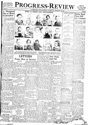 Progress-Review from La Porte City, Iowa on February 11, 1943 · Page 1