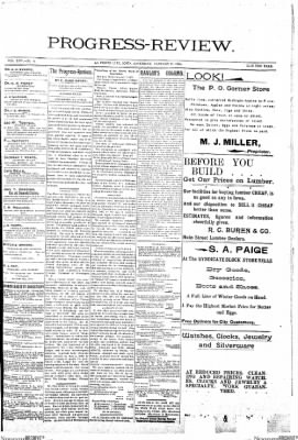 Progress-Review from La Porte City, Iowa on January 19, 1895 · Page 1