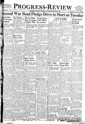 Progress-Review from La Porte City, Iowa on March 18, 1943 · Page 1