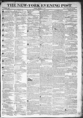 The Evening Post from New York, New York on August 14, 1818 · Page 1