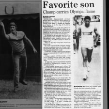 Muhammad Ali carries Olympic torch in Kentucky for 1984 Olympics