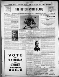 Sample The Hutchinson Blade front page