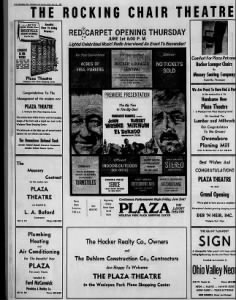 Plaza theatre opening 1