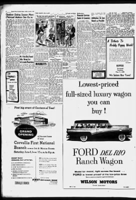 Corvallis Gazette-Times from Corvallis, Oregon on May 27, 1957 · 2