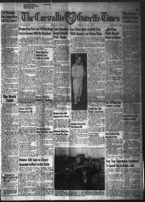 Corvallis Gazette-Times from Corvallis, Oregon on March 8, 1949 · 1