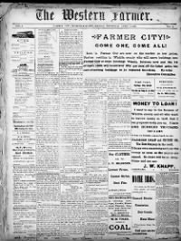 Sample The Western Farmer front page