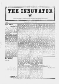 Sample Innovator front page