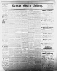 Sample Kansas Staats-Zeitung front page