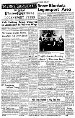 Logansport Pharos-Tribune from Logansport, Indiana on December 24, 1961 · Page 1
