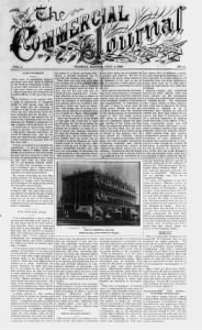 Sample Commercial Journal front page