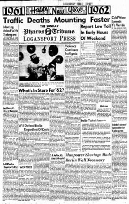 Logansport Pharos-Tribune from Logansport, Indiana on December 31, 1961 · Page 1