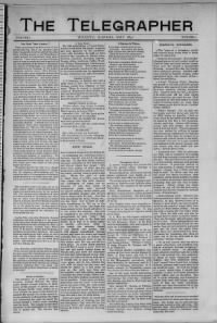 Sample Telegrapher front page