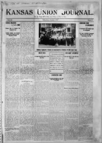 Sample Kansas Union Journal front page