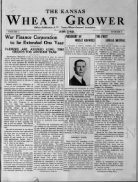 Sample Kansas Wheat Grower front page