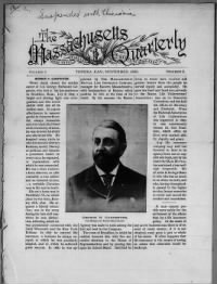 Sample Massachusetts Quarterly front page