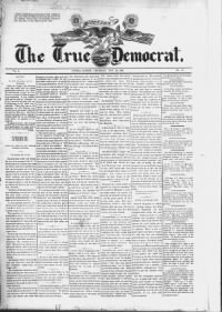 Sample The True Democrat front page