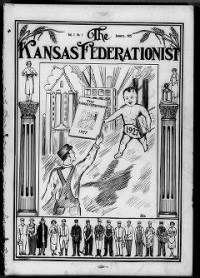 Sample The Kansas Federationist front page