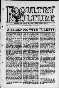 Sample Poultry Culture front page