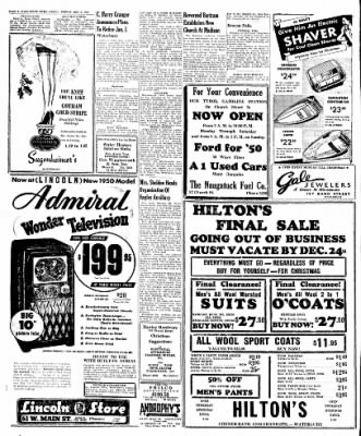 Naugatuck Daily News from Naugatuck, Connecticut on December 2, 1949 · Page 6