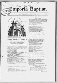 Sample Emporia Baptist front page