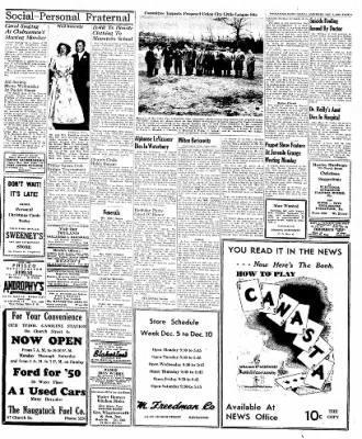 Naugatuck Daily News from Naugatuck, Connecticut on December 3, 1949 · Page 3