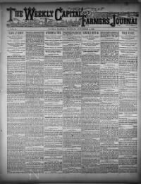 Sample Weekly Capital and Farmer's Journal front page