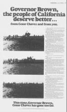 Newspaper ad critical of Cesar Chavez, 1979