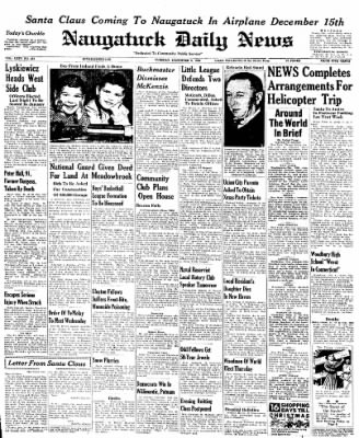 Naugatuck Daily News from Naugatuck, Connecticut on December 6, 1949 · Page 1