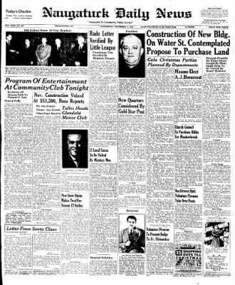 Naugatuck Daily News from Naugatuck, Connecticut on December 7, 1949 · Page 1
